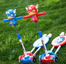 new style Captain America double padel children kick foot scooters for teenagers
