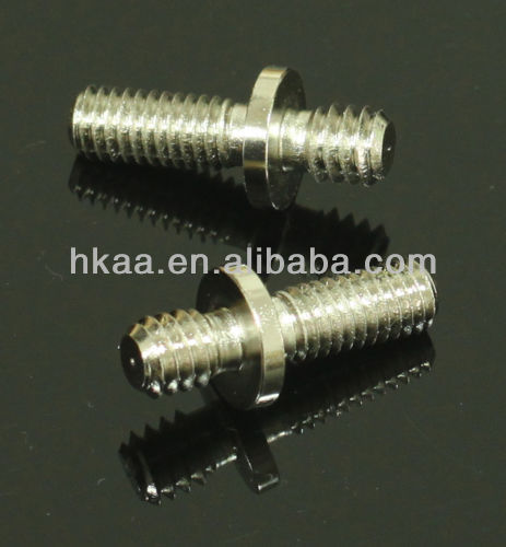 knurled pin/shaft ,male thread screw adapter for tripod camera