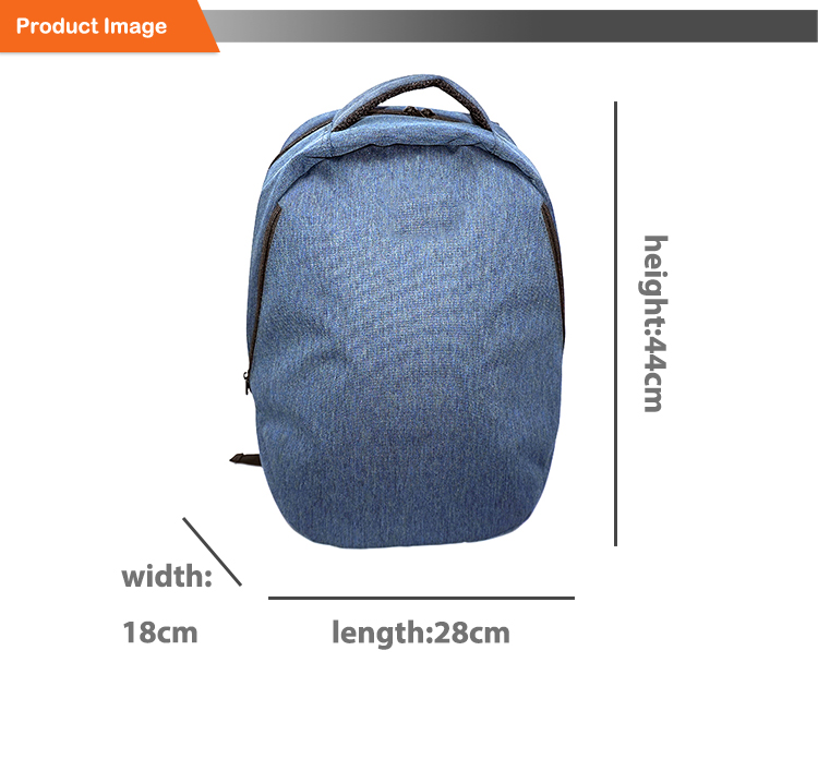 Water Resistant Polyester Laptop Backpack with USB Charging Port