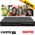 ENSTER 16CH POE H.265 4K(8MP) Onvif NVR Support 2x6TB SATA HDD Support face detection support HDMI