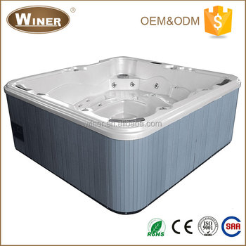 CE ROHS Approval 2016 High Quality Freestanding Acrylic Balboa Whirlpool Massage Outdoor Balcony SPA Hot Tub