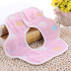 decorative cotton baby bib in flower shape