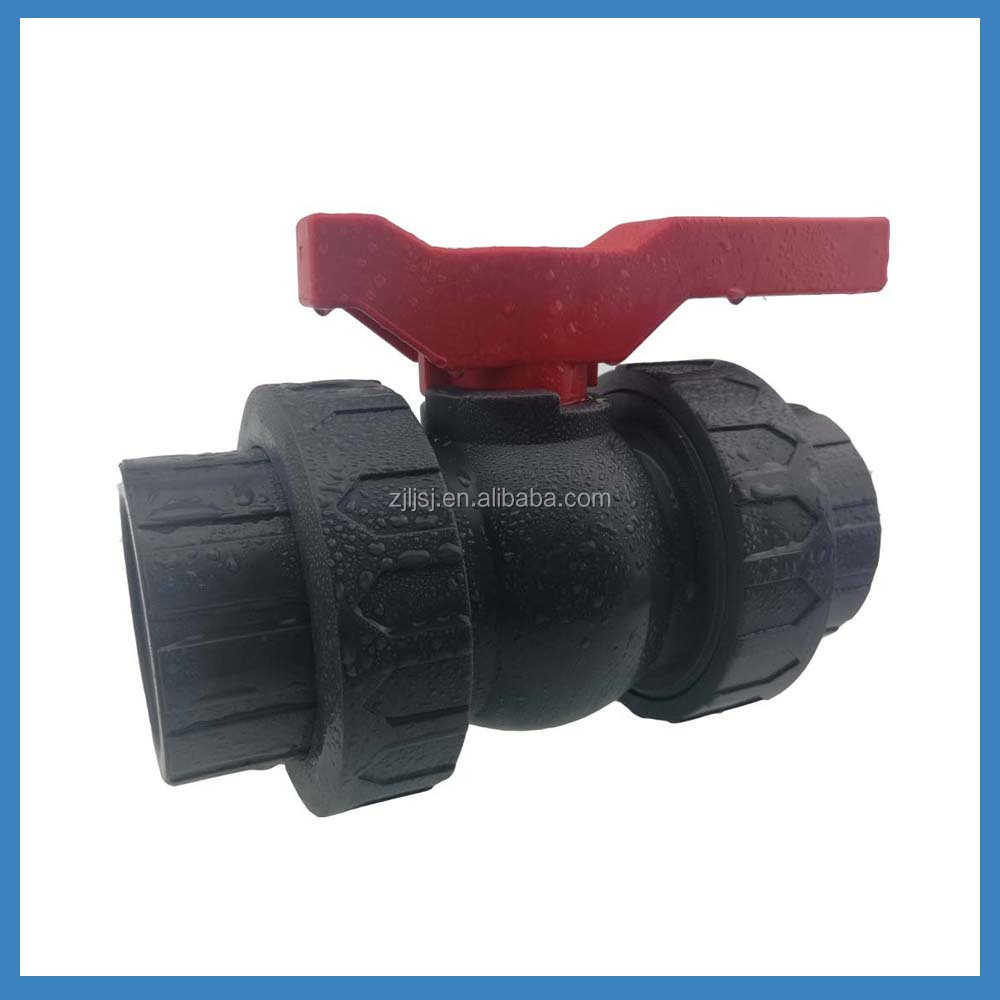 Pvc double union ball valve plastic valve for pipe fittings