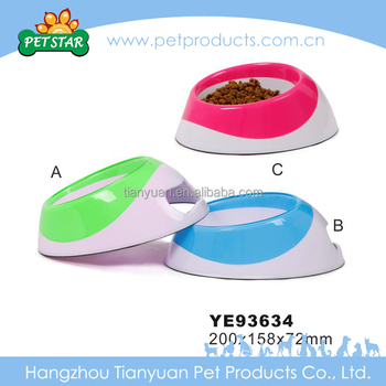 household Pet pure color Pet Travel Bowl