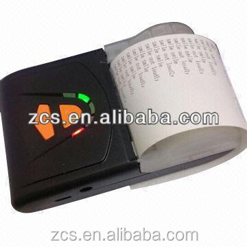 handheld portable bluetooth thermal printer for taxi receipt/POS/mobile pay