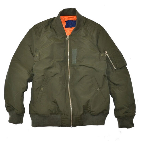 OEM Designer Down Padded Vintage Military Flight Jackets Soft shell Nylon Men Pilot Jackets