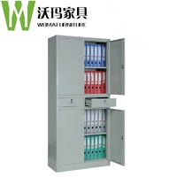 Two section cabinet with two drawers Double metal cabinets four doors fillng file cabinet furniture iron