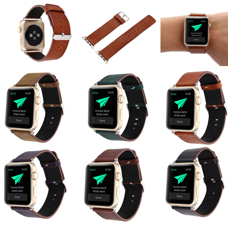 New Simple Male's Gentle Leather band for apple watch 38mm/42mm