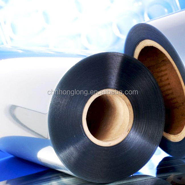 Customized clear transparent rigid <strong>pvc</strong> film for blister packaging rigid <strong>PVC</strong> shrink film sheeting polyester film