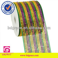 deluxe wide foil deco poly flower ribbon mesh
