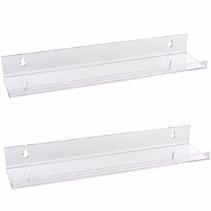 Bathroom High Transparency Clear Durable Wall Mounted Acrylic Display Shelf