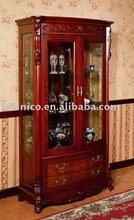 antique french style living room wine cabinet, curio cabinet, showcase B46108