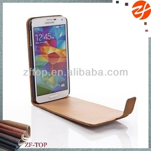 for samsung galaxy s5 flip magnet retro look old leather case