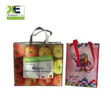 Reusable Fancy Pp Laminate Promotion Environmentally Friendly Grocery Wholesale Shopping Bag Non Woven With Logo