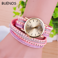 New Diamond Bead string Gold Case Women Watches Ladies Bracelets