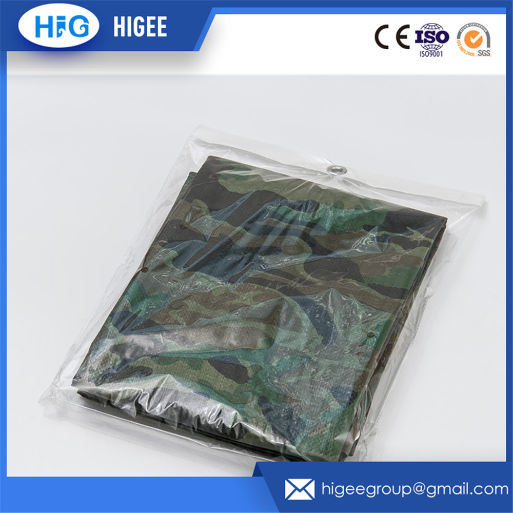 China manufacturer 150gsm blue white hdpe recycle material plastic tarpaulin