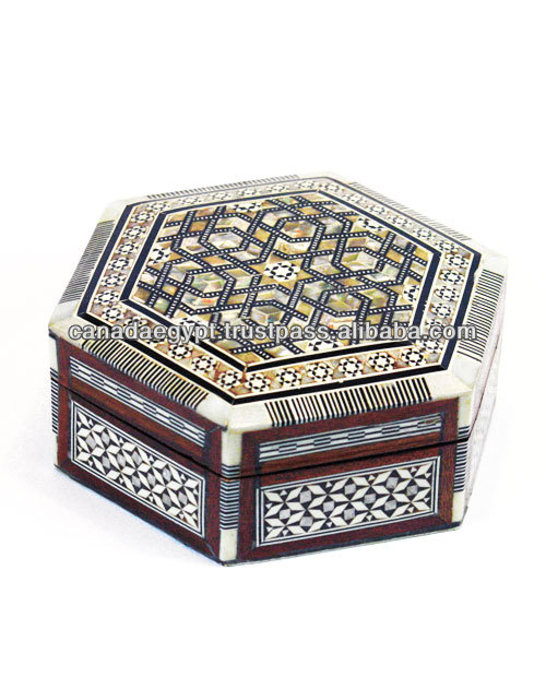 Hand made Egyptian Mother of Pearl Boxes