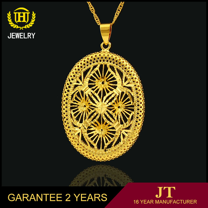 China supplier jewelry gold plated dubai gold pendant