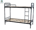 strong steel tube easy assemble metal slat bunk bed DJ-HL01