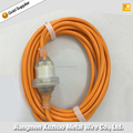 Australia orange Extension Cord Transparent Plug and Socket with SAA Approval