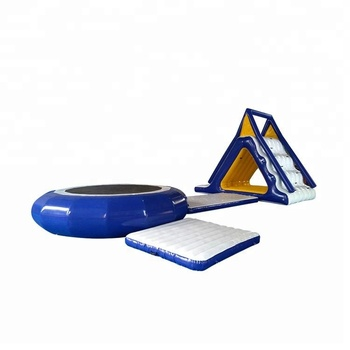 Park Commercial Sea Floating Combo Inflatable Water Trampoline with Slide