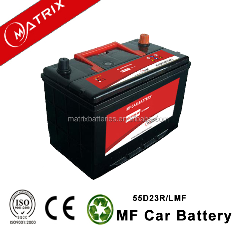 55D23R MF 12v 50AH Maintenance Free starting automotive battery for cars