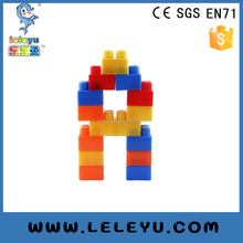 Educational kids interlocking brick toy plastic connecting building block