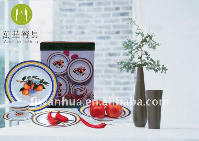30pcs colorful dinnerware sets