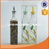 factory wholesale glass oil & vinegar bottle with decal