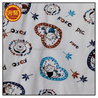 95%polyester 5%spandex/stretch/lycra 32s knitting spun children designs print single jersey fabric