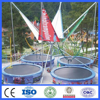 Attraction amusement indoor trampoline park bungee trampoline for sale