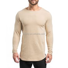 Custom long tee mens shirts, matching mesh printed t shirts high quality and comfort