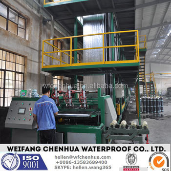 Small business waterproofing material machine plant of bitumen membrane 1mm--6mm