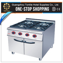 Kitchen Equipment Factory Price Gas Cooker with Cabinet 4 Burners gas burner