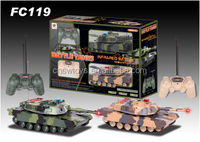 7 channel infrared control military armored model rc battle tank 1:16 with 360 degree rotation and LED light