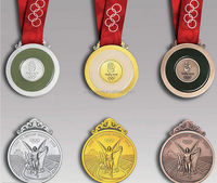 New Products Innovative Product Metal Sports Medals with Ribbon