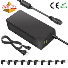 45 W 12 V/15 V/16 V/18.5/19 V/20 V universal ac dc adapter laptop charger dengan QC3.0 USB port