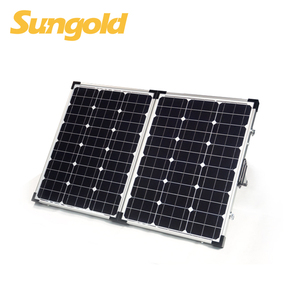 High efficiency 100W foldable solar panel for camping RV