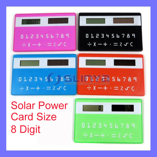 LCD Display 1.1 Inch Mini Size Solar Power Credit Card Calculator