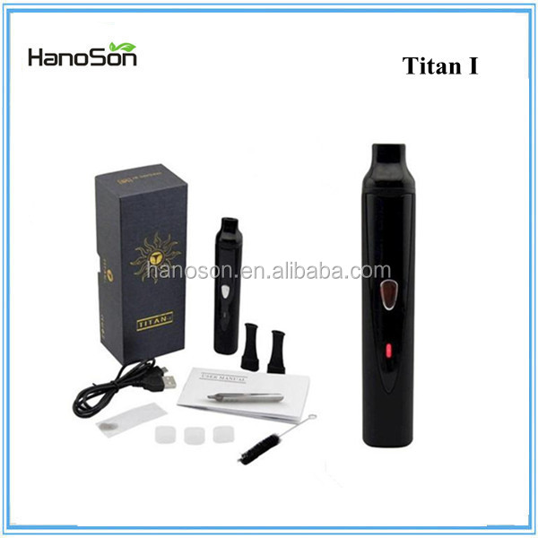Top selling Titan I dry herb vapor e cigarette PK vaporizer wax pen with ceramic heating system