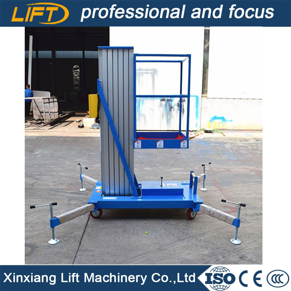 Trailer telescopic aluminium lift platform for aerial working