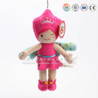 Plush girl doll keychain with wings