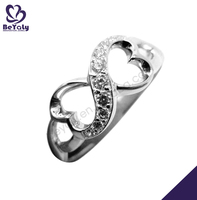 Silver infinite love heart decorative napkin rings