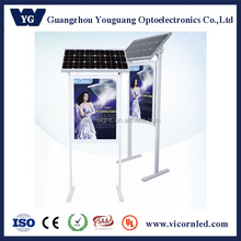 Outdoor solar powered street advertisement LED advertising light box