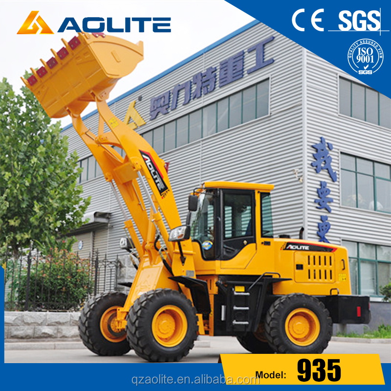 AOLITE Brand New 2.0 Ton CE Approved Wheel Loader with Joystick/Quick Hitch/Sweeper