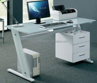 Hot sell good tempered Glass office computer table