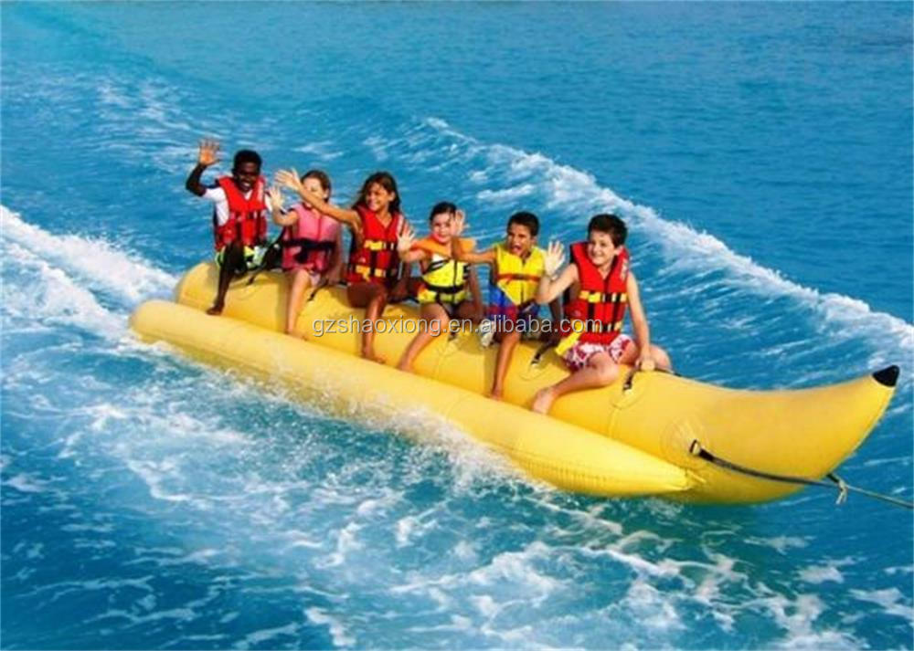 hot inflatable banana boat for lake/pool/rive sea sport game,high qulity challeng inflatable towable banana boat for speed boat