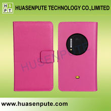 Round Back Window for Camera Magnetic Flip Leather Cover Case for NOKIA Lumia 1020