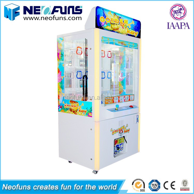 Neofuns Most popular Coin Operated Prize Vending Golden Key Master Game Machine/Toy Vending Machine