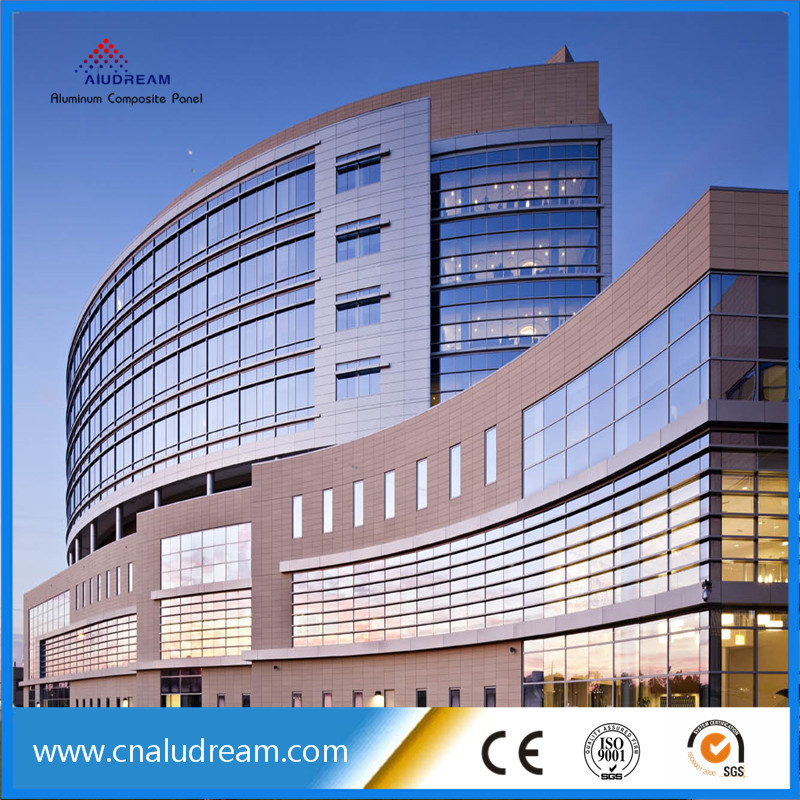 8mm curtain wall cladding aluminum composite metal panel